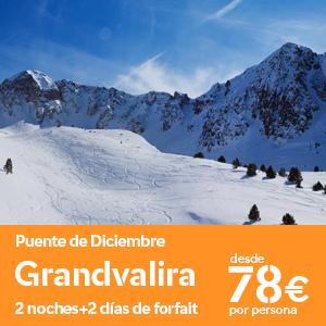 Ofertas esquí puente de diciembre Grandvalira
